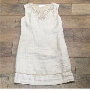 LOFT Linen Beige Dress